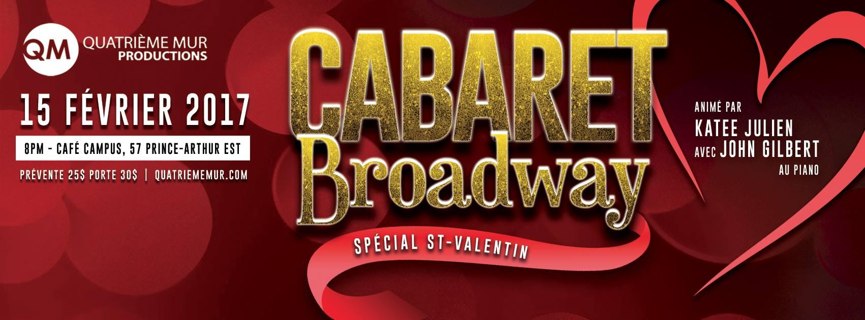 Cabaret Broadway – St-Valentin